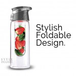 Foldable handle fruit infuser water bottle style degree sg singapore