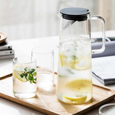 Glass Fruit Infuser Pitcher Jug