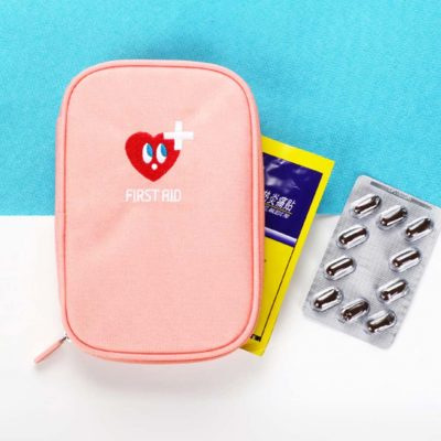 friendly hearts first aid medical organiser organizer pouch travel style degree sg singapore
