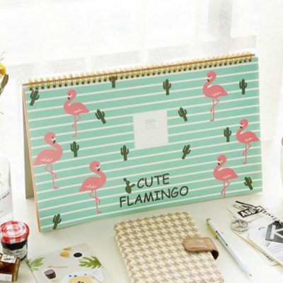 flamingo 2018 calendar planner scheduler table organizer organiser style degree sg singapore