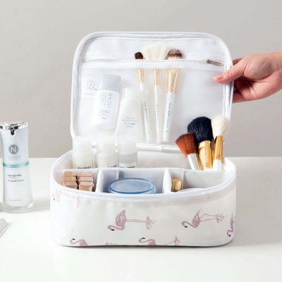 multi compartments travel cosmetics cosmetic organizer organiser style degree sg singapore