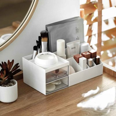 Essentials Desk Organizer Organiser Drawer Stationery Makeup Cosmetics Holder Style Degree Sg Singapore