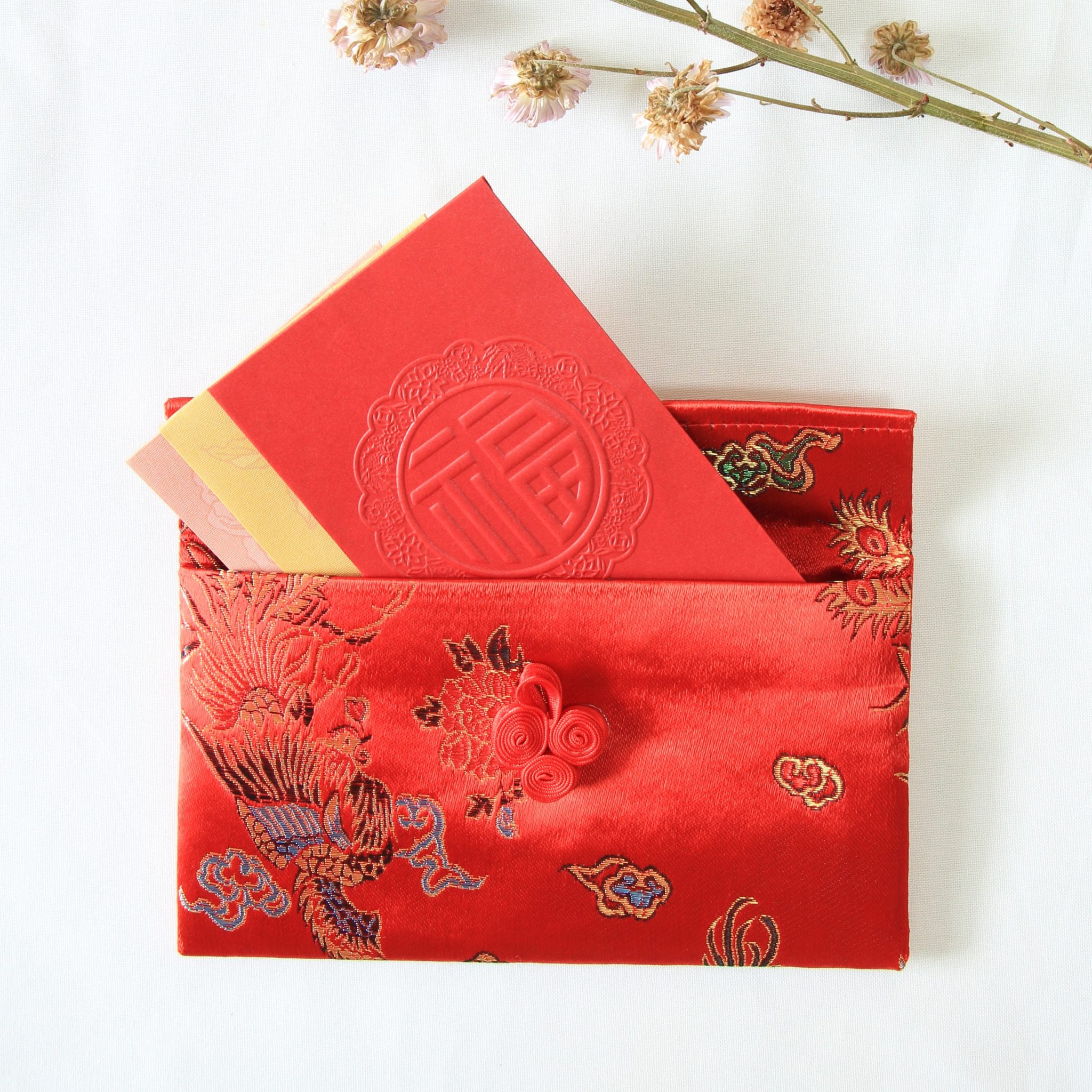 red packet organizer organiser pouch holder ang hong bao chinese new year 2018 style degree sg singapore