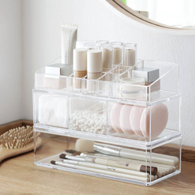 Personalized cosmetics desk organizer organiser table make up holder home deco style degree sg singapore