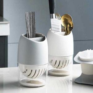 Modern Round Utensils Holder Knife Kitchen Drying Rack Style Degree Sg Singapore