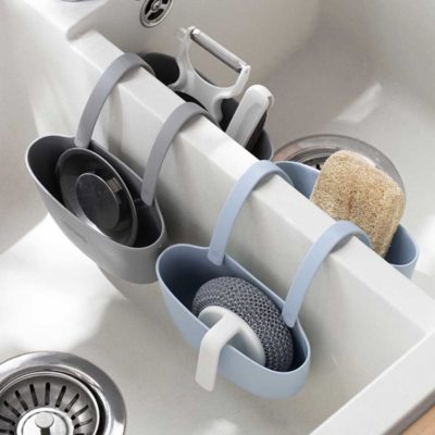 Earthly Basin Hanging Holder Sink Caddy Ktichen Bathroom Faucet Tap Double Bowl Sponge Organizer Style Degree Sg Singapore