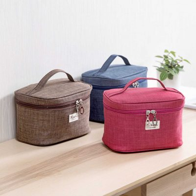 Spacious Cosmetics Travel Cosmetic Organizer Organizer Essentials Bag Pouch Style Degree sg singapore