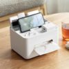 Tissue Multi Holder (With Phone Stand) Tissue Box Cover Desk Organizer Stationery Living Room Style Degree Sg Singapore