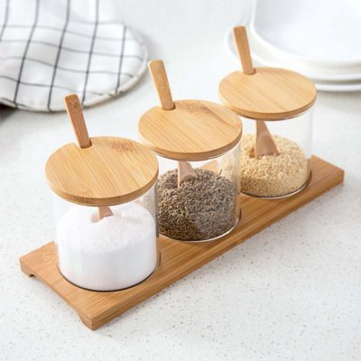 Scandinavian Condiment Holder Container Cooking Seasoning Box Kitchen Home Deco Living Style Degree Sg Singapore
