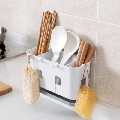 Hanging Utensils Utensil Holder Organizer Organiser Washing Sponge Kitchen Cooking Cutlery Style Degree Sg Singapore