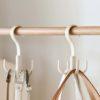 Hook Closet Hanger Clothes Apparel Cabinet Wardrobe Handbag Bag Belt Scarf Style Degree Singapore Sg