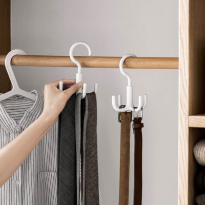 Hook Closet Hanger Clothes Cabinet Wardrobe Handbag Bag Belt Scarf Ties Style Degree Singapore Sg