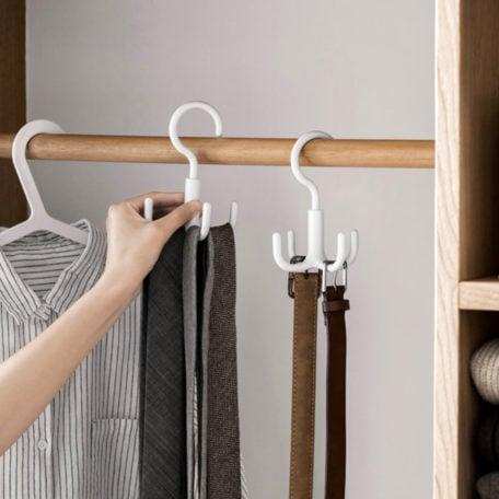 Hook Closet Hanger Clothes Cabinet Wardrobe Handbag Bag Belt Scarf Ties Style Degree Singapore Sg