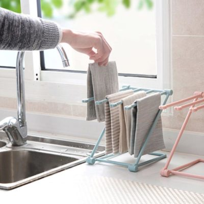 Kitchen accessories, Kitchen decor, kitchen essentials, cloth stand, stand for drying cloth, kitchen rack for cloths, cups dryer, cloth dryer, Foldable Kitchen Cloth Holder Style Degree sg singapore