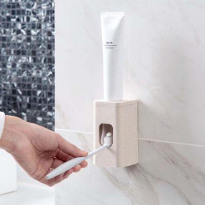 Toothpaste Dispenser Holder Organizer Organiser Teeth Washing Brushing Brush Style Degree Sg Singapore