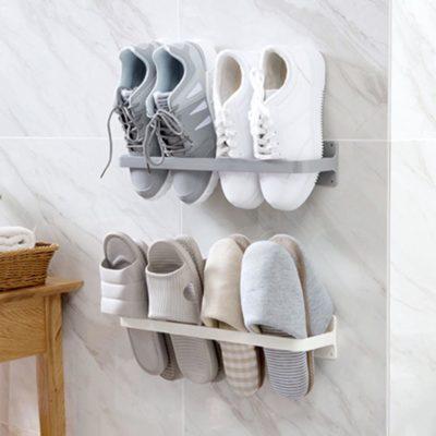 Multi Hanging Footwear Holder, bathroom slippers holder, bathroom wall holder, shoes holder, style degree, sg singapore