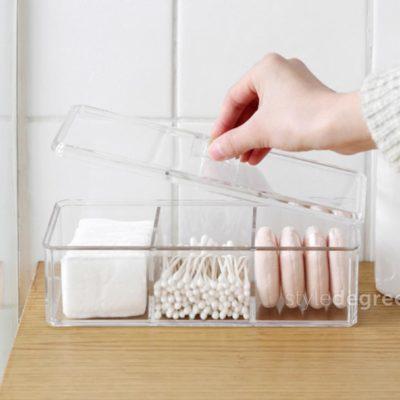 Triple Compartment Makeup Box