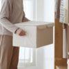 Dual Compartment Storage Box, home storage solutions, closet organisation, organization, wardrobe organiser, foldable, stackable, storage box, style degree, singapore, sg