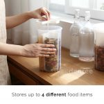 Quadrant Food Holder Pasta Snack Snacks Storage Spices Kitchen Cooking Style Degree Sg Singapore