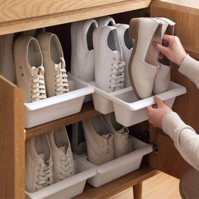 Footwear Shoe Organizer Organiser Storage Canvas Slippers Rack Style Degree Sg Singapore