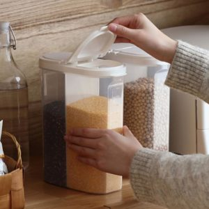Halves Food Holder, dry food jar, dry goods storage, snacks container, cereal container, storage box, kitchen storage, style degree, singapore, sg