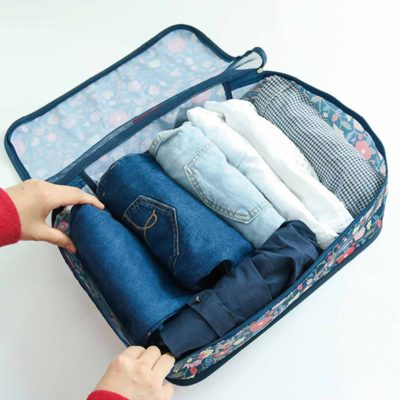 Artisan Premium Luggage Organizer 8pc set Organiser Clothes Packing Cubes Pouch Travel Bags Style Degree Sg Singapore