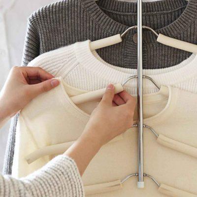 Clothes Hanger Wardrobe Closet Shirt Organizer Organiser Hanging Style Degree Sg Singapore