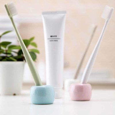 Minimalist Toothbrush Holder, minimalistic, bathroom decor, essentials, pastel, toothbrush, style degree, singapore, sg