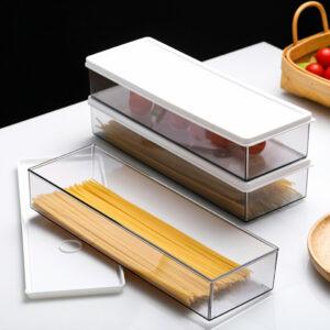 Slim Pasta & Food Storage Container Spaghetti Noodle Fridge Holder Style Degree Sg Singapore