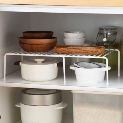 Extendable Kitchen Rack Organizer Cabinet Tabletop Organiser Pot Pans Utensils Holder Style Degree Sg Singapore