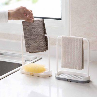 Arch Towel & Sponge Holder Kitchen Rack Basin Organiser Organizer Toilet Style Degree sg Singapore