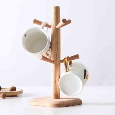 Oishii Wooden Mug Stand Cup Hanger Dryer Utensils Holder Kitchen Pantry Style Degree Sg Singapore