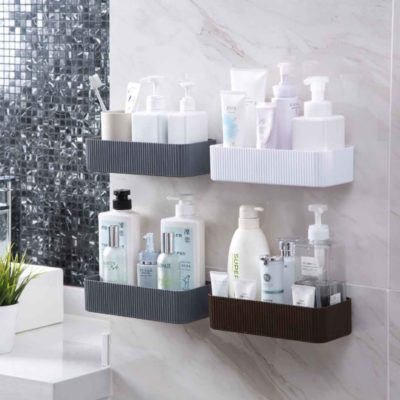 Minimalist Bathroom Wall Holder Toilet Shampoo Soap Bottle Organiser Organizer Style Degree Sg Singapore