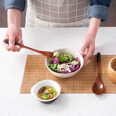Oishii Wooden Fork & Spoon Dining Utensils Cutlery Wood Japanese Kitchen Style Degree Sg Singapore