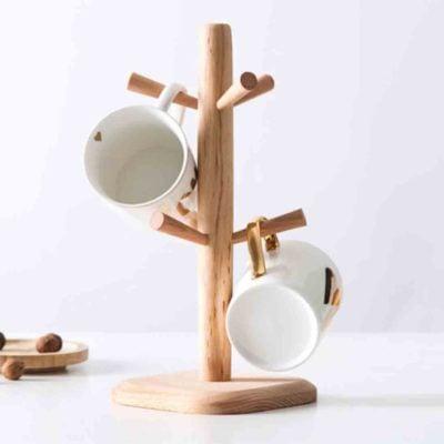 Oishii Wooden Mug Stand Cup Hanger Dryer Utensils Holder Kitchen Pantry Style Degree Sg Singapore