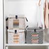 Retro Storage Bag Anti-Dust Quilt Box Bag Cover Closet Wardrobe Organizer Organiser Home Decor Style Degree Sg Singapore