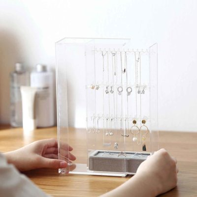 The Elegance Jewellery Standing Organizer Accessories Earrings Necklace Ring Organiser Box Storage Beauty Style Degree Sg Singapore