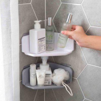 Triangle Bathroom Wall Holder, bathroom home organization, organisation, toiletries organizer, organiser, kitchen corner wall holder, style degree, singapore, sg