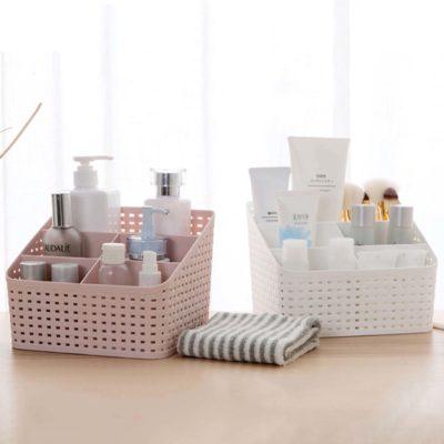 Woven Desk Organizer, home organization, home accessories, organisation, makeup toiletries desk organiser, bathroom organiser, remote control holder, style degree, singapore sg
