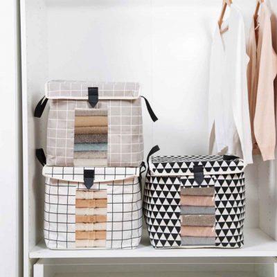 Retro Storage Bag Box Organizer Organiser Clothes Quilt Blanket Bedsheet Cover Style Degree Sg Singapore