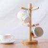 Oishii Wooden Mug Stand Cups Drying Dryer Cutlery Organizer Rack Dinnerware Dining Kitchen Style Degree