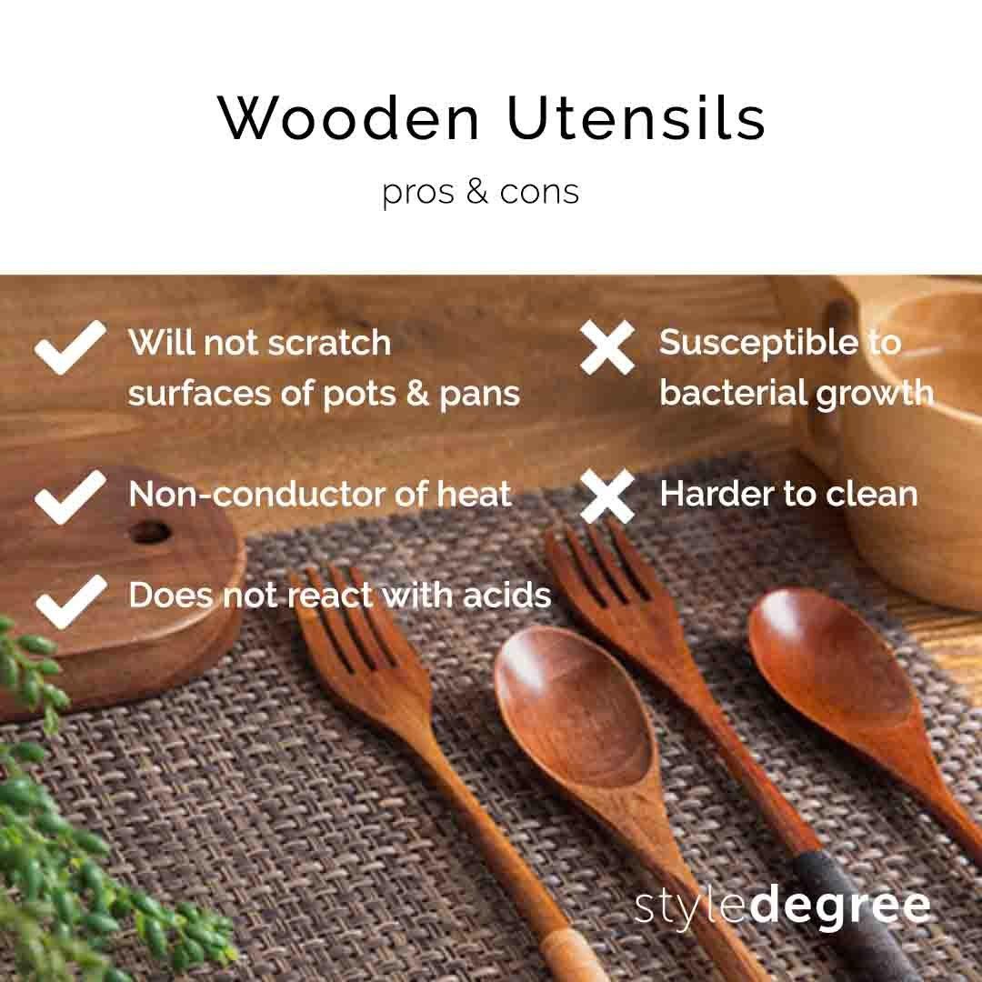 metal utensils, kitchen utensils, wood utensils, cutlery, metal cutlery, spoons, forks, singpaore, sg style degree