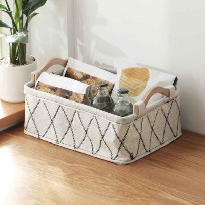 Exquisitely Mini Basket Desk Organizer Organiser Storage Box Makeup Cosmetics Food Snacks Style Degree Sg Singapore