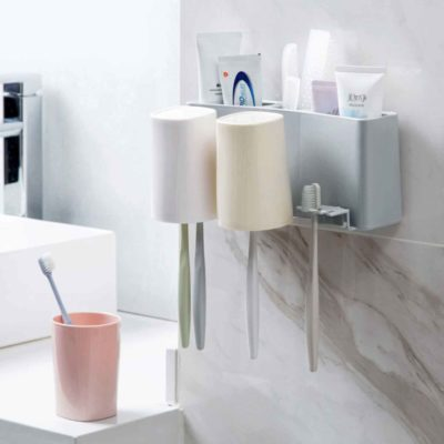 Refresh Toothbrush & Paste Holder, bathroom organiser, organizer, organisation, toothpaste dispenser, style degree, singapore, sg