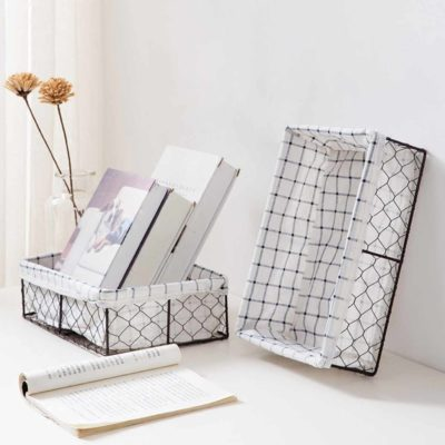 Rustic Mini Basket Desk Cosmetics Makeup Cosmetics Organizer Organiser Storage Box Style Degree Sg Singapore