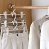 Stack & Clip Clothes Hanger (3pc Set) Closet Wardrobe Hangers Pants Jeans Bottoms Organizer Organiser Style Degree Sg Singapore