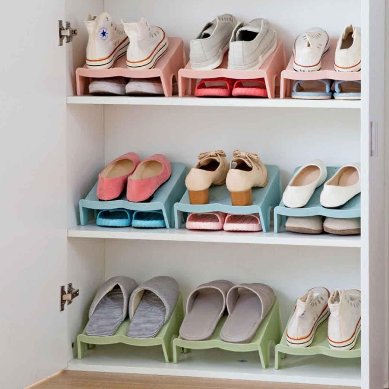 double layer shoe organizer organiser holder shoe rack cabinet design style degree sg singapore