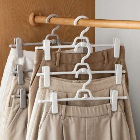Stack & Clip Clothes Hanger (5pc Set) Pants Jeans Style Degree Sg Singapore