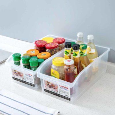 Clear Fridge & Cabinet Organizer Organiser Kitchen Storage Style Degree Sg Singapore