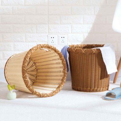 Artisan Rattan Laundry Basket Storage Clothes Bathroom Toilet Organizer Organiser Style Degree Sg Singapore